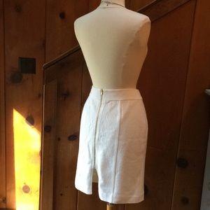 Banana Republic White Wool Blend Pencil Skirt